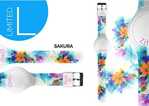 Uhr Zitto Grosse LED mit Silikonband Limited Edition Sakura G