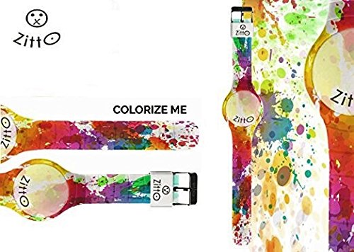 Uhr Zitto klein LED mit Silikonband Limited Edition colorizemep
