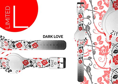 Uhr Zitto klein LED mit Silikonband Limited Edition darklovep