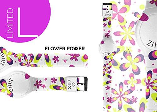 Uhr Zitto klein LED mit Silikonband Limited Edition flowerpowerp