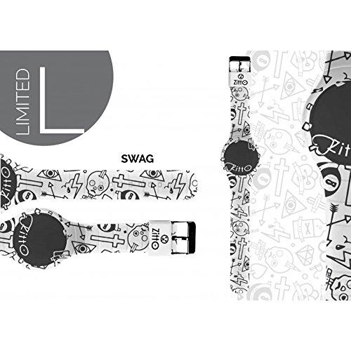 Uhr Zitto klein LED mit Silikonband Limited Edition Swag P
