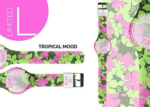 Uhr Zitto klein LED mit Silikonband Limited Edition tropicalmood P