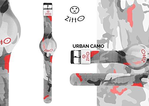 Uhr Zitto klein LED mit Silikonband Limited Edition urbancamop