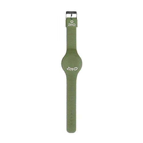 Uhr Zitto A LED mit Silikonband Army Green militaerische gruen gross
