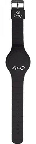 Uhr Zitto A LED mit Silikonband MR Black Schwarz Gross