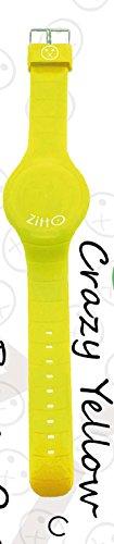 Uhr Zitto A LED mit Silikonband Crazy Yellow Gelb Klein