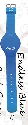 Uhr Zitto A LED mit Silikonband Endless Blue Blau Klein