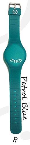 Uhr Zitto A LED mit Silikonband petrol blau petrol gross