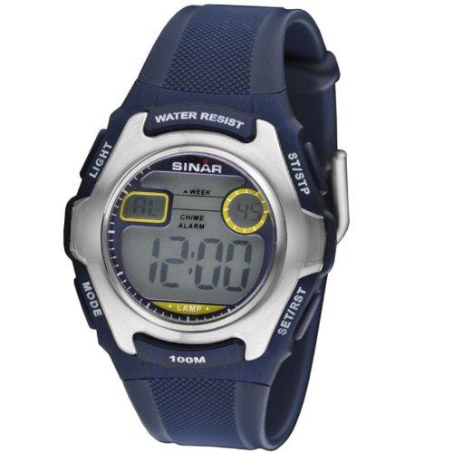 Sinar Jugenduhr Armbanduhr digital blau 10 bar XE 50 2