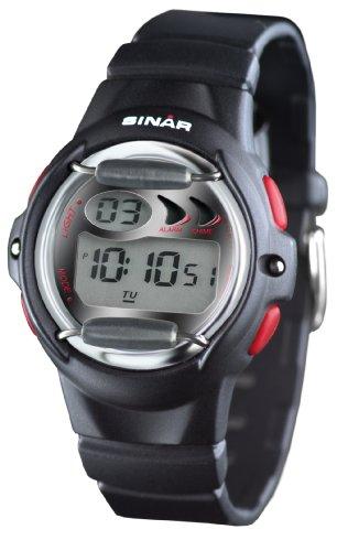 SINAR XF 61 1 Uhr Unisex Kautschuk Kunststoff 100m Digital Datum Licht Alarm Timer schwarz
