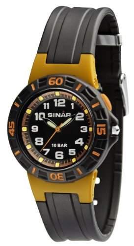 SINAR XB-20-9 Uhr Unisex Kautschuk Kunststoff 100m Analog Licht schwarz