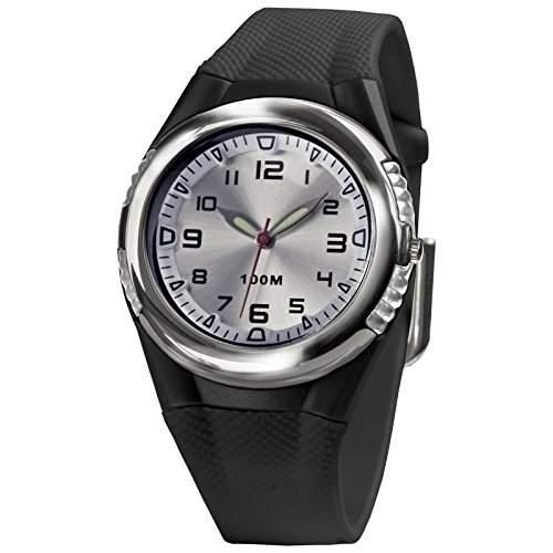 SINAR XH-80-1 Uhr Unisex Kautschuk Kunststoff 100m Analog schwarz