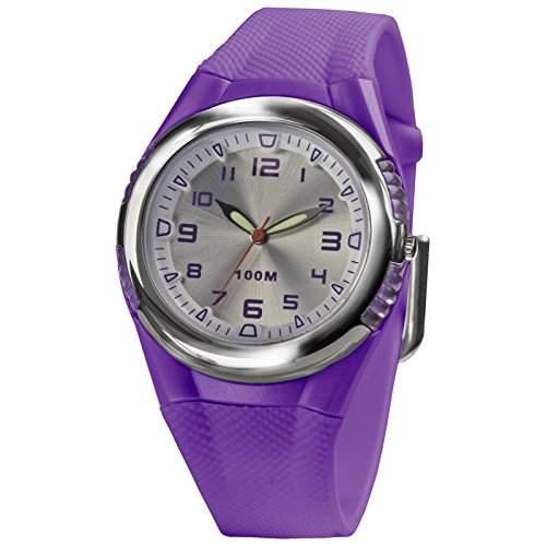 SINAR XH-80-7 Uhr Damenuhr Kautschuk Kunststoff 100m Analog violett
