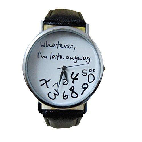 Zolimx Heiss Damen Leder Uhr Uhren Schwarz