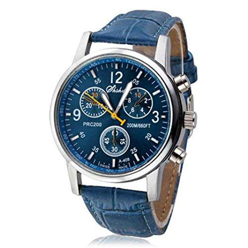 Zolimx Herren Analoge Uhr Uhren Luxus Mode Krokodil Kunstleder