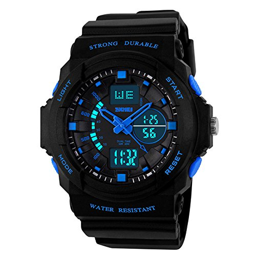 watchpl Multi Funktion Digital LED Elektronische Sport Uhren Kind Blau Medium