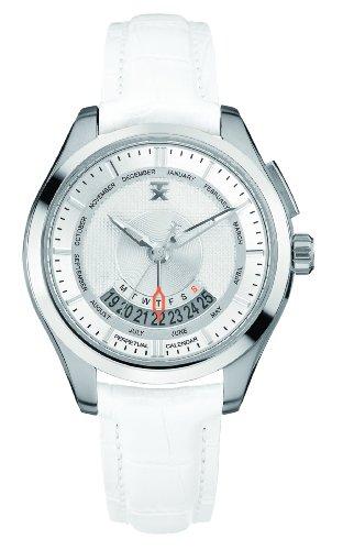TX Unisex T3C503 400 Series Perpetual Wochenkalender Weiss und Silber Uhr
