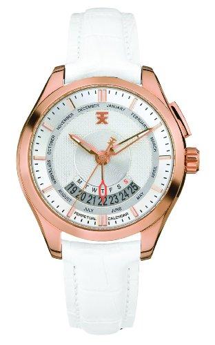 TX Unisex T3C505 400 Series Perpetual Wochenkalender Weiss und Gold Watch