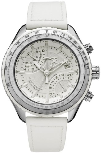 TX Unisex T3C508 600 Series Pilot Zurueck Fly Chronograph Dual Time Zone All White Uhr