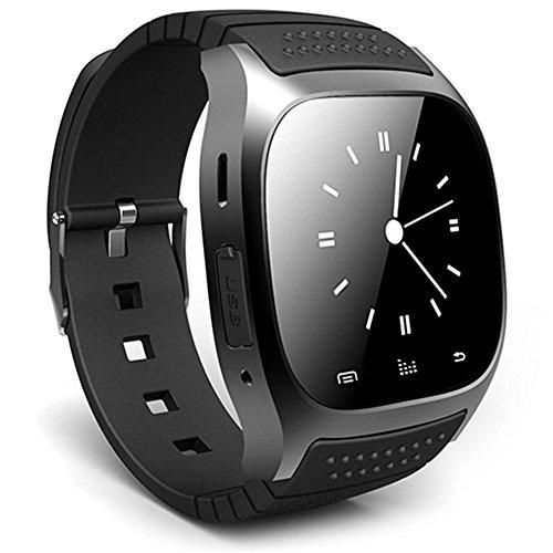 Leopard Shop RWATCH m26s Armbanduhr Smart Sport Bluetooth Sleep Management Schrittzaehler Dialing SMS schwarz