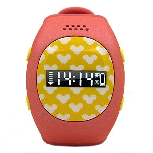Leopard Shop RWATCH R9 Kinder GPS Smartwatch Familie Zahlen Sicher Bereich Zweiwege Kommunikation Phone MTK6260 SOS Taste Rot