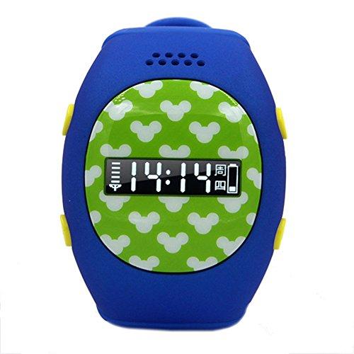 Leopard Shop RWATCH R9 Kinder GPS Smartwatch Familie Zahlen Sicher Bereich Zweiwege Kommunikation Telefon MTK6260 SOS Taste Deep Blue