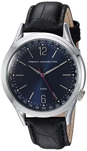 French Connection Herren-Armbanduhr Cromwell Analog Quarz Leder FC1195UB