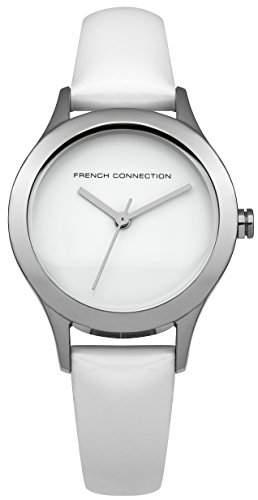 French Connection Damen-Armbanduhr Charlotte Analog Quarz Leder FC1206W
