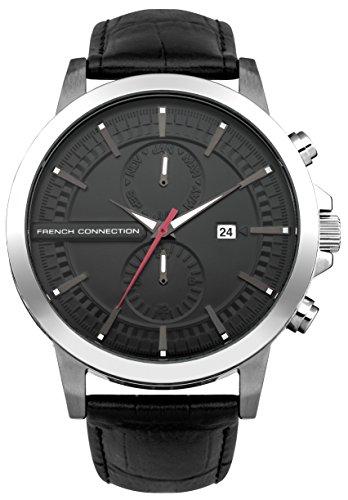 French Connection Herren Armbanduhr Analog Quarz Leder FC1270BA