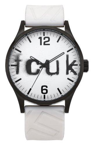 French Connection Herren Quarz Uhr mit weissem Zifferblatt Analog Anzeige und Weiss Silikon Strap FC1096WW