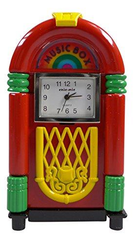 Miniatur Uhr Musikbox ca 8 5 x 4 5 x 2 5 cm Vintage Uhr Sammleruhren mit hochwertiger Geschenkbox