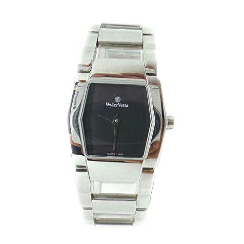 Uhr Wyler Zugspitze Silver e3335 W Quarz Batterie Stahl Quandrante schwarz Armband Stahl