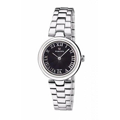 Uhr Wyler Zugspitze Etoile wv0028 Quarz Batterie Stahl Quandrante schwarz Armband Stahl
