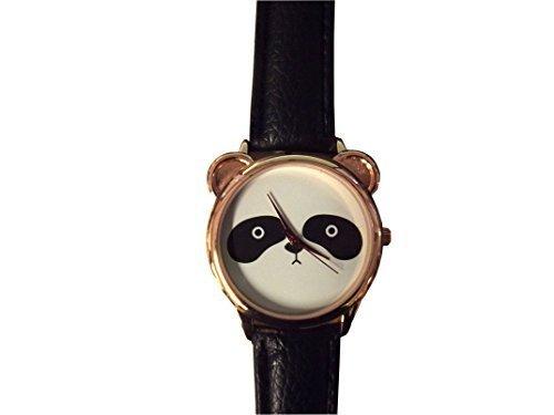 Armbanduhr Panda unisex schwarz weiss