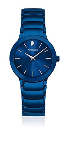 Pierre Lannier 022 F966 Wochenende Linie Pure Quarz Analog Zifferblatt Blau Armband Stahl vergoldet blau