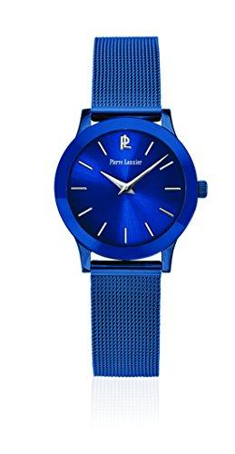 Pierre Lannier 050j968 Wochenende Linie Pure Quarz Analog Zifferblatt Blau Armband Stahl vergoldet blau