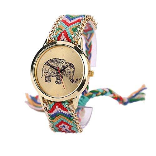 Uhr Elefant Vasus im indischen Stil