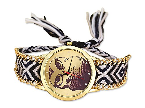 Uhr Uhu Cherokee mit farbenfrohem Armbad