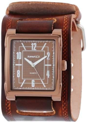 Nemesis Herren BUIN053B Classic Collection Braun Schokolade-Lederband Uhren