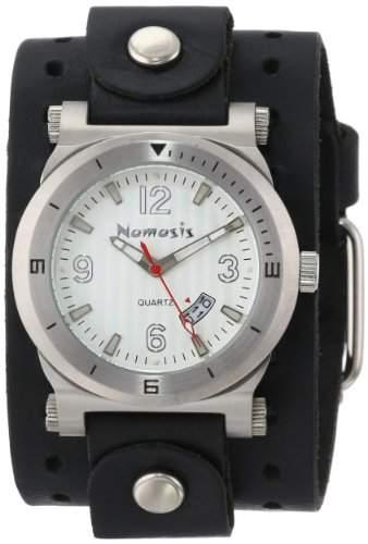 Nemesis Herren NLB073S Classic Collection Silber DateTracker Leder-Band zu sehen