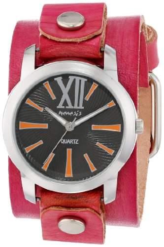 Nemesis Damen PVGB065KN Exclusive Collection Roman gewaschenen roten Lederarmband Uhr