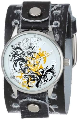 Nemesis Damen THR827N Classic Yellow Werk Art Leather Cuff-Band zu sehen
