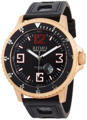 Ritmo Mundo Men der 313 RG Kohlenstoff Hercules Titanium Automatic Black Dial Uhr