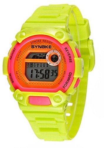 Wasserdicht Digital Schwimmen Armbanduhr Ourdoor Sport elektronische watchesfor 5 15 Jahre alt Jungen gruen