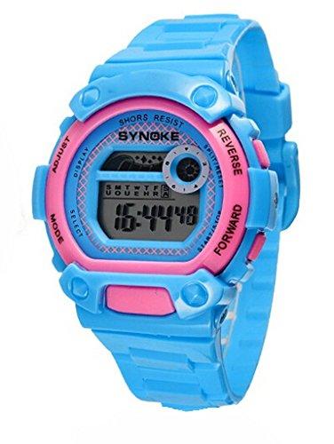 Wasserdicht Digital Schwimmen Armbanduhr Ourdoor Sport elektronische watchesfor 5 15 Jahre alt Jungen blau