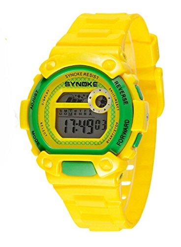 Wasserdicht Digital Schwimmen Armbanduhr Ourdoor Sport elektronische watchesfor 5 15 Jahre alt Jungen Gelb