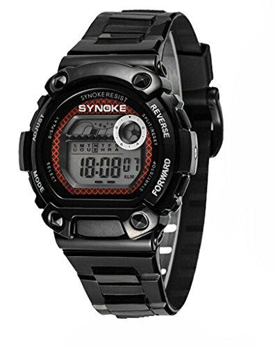 Wasserdicht Digital Schwimmen Armbanduhr Ourdoor Sport elektronische watchesfor 5 15 Jahre alt Jungen Schwarz