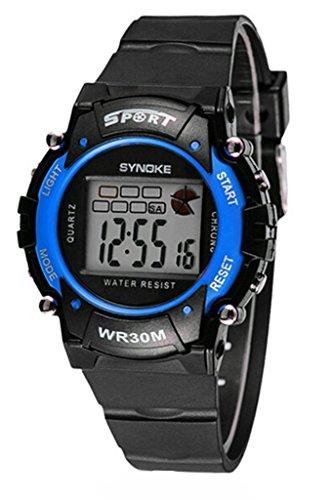 Kid Wasserdicht Unisex Electronic Outdoor Handgelenk Sport Junge Erwachsene Jungen Maedchen Teen Armbanduhr Blau