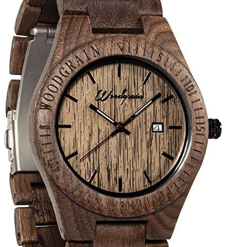 Walnuss Holzmaserung Uhr Hand Holz Armbanduhr