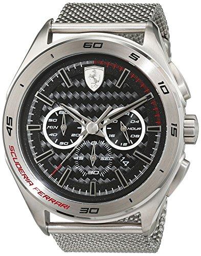 Scuderia Ferrari Orologi Herren Armbanduhr GRAN PREMIO Analog Quarz Edelstahl 0830347